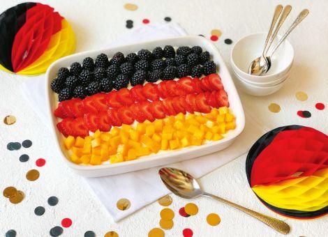 Fruchtiges Deutschland-Trifle