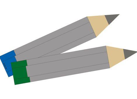 Bleistift ohne Blei