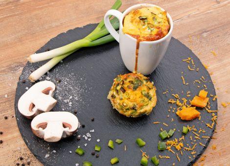 Kartoffelfrühstück aus dem Kaffeebecher