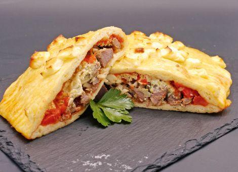 Calzone mit Rehfleisch