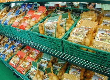 Kartoffeleinkäufe auf Normalmaß geschrumpft